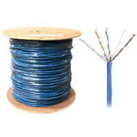 1000ft Bulk U/FTP Cat6a Cable, Stranded Wire, 26AWG - Blue
