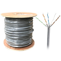 1000ft Bulk U/FTP Cat6a Cable, Stranded Wire, 26AWG - Gray