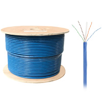 1000ft Bulk UTP Cat6a Cable, Solid Wire, 23AWG - Blue