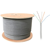 1000ft Bulk UTP Cat6a Cable, Solid Wire, 23AWG - Gray