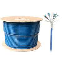 1000ft Bulk S/STP Cat6a Cable, Solid Wire, 23AWG - Blue