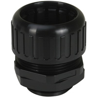 Watertight Corrugated Tubing fittings Max 34.50mm OD Thread Length 15mm Panel Mounting  Hole 33.3-33