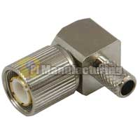 1.6/5.6 Male Crimp Right Angle Connector, for RG179