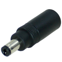 DC Power Plug Size Adapter, 2.1mm Male to 2.5mm Female