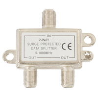 2 Way Coax Cable Splitter F-Type 5-1000MHz (For Satellite or Cable TV)