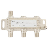 3 Way Coax Cable Splitter F-Type 5-1000MHz (For Satellite or Cable TV)
