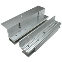 U and L Bracket for Glass Doors for 600 Series Electromagnetic / Magnetic Lock
