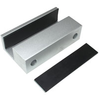 U Bracket for Glass Doors 3.5 x 2 x 1 inch for Electric Dead-Bolt Lock