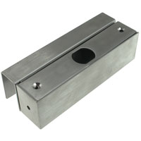 U Bracket for Glass Doors 5.3 x 2 x 1.5 inch for Electric Dead-Bolt Lock