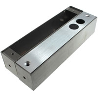 U Bracket for Glass Doors 8.1 x 1.5 x 1.9 inch for Electric Dead-Bolt Lock