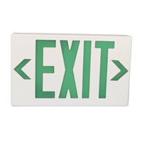 Plastic LED Emergency Exit Sign with Backup Battery, Green