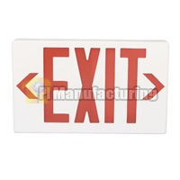 Plastic LED Emergency Exit Sign with Backup Battery, Red