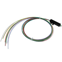 36 inch 12 Fiber Buffer Tube Fan-Out Kit, Round Cable Entry (3-6mm)