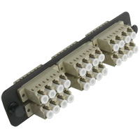 Universal loaded LGX bracket with 6 Quad Multi Mode LC for 24 fiber