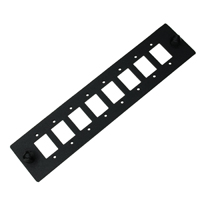 LGX Adapter Panel for 8 SC Simplex or 8 LC Duplex, 130x30x1.5mm