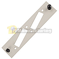 Unloaded 2 Cutout Mounting Plate for FDDI, Beige