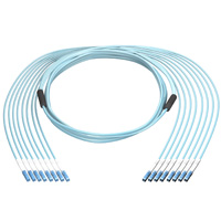 40G 8 LC to 8 LC 50/125 OM4 Multimode Fiber Cable, Plenum OFNP, 8 Fiber, 100 meter, OD: 6.0mm