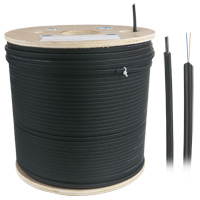 Leapmicro Outdoor Fiber Drop Cable, LSZH 2 Fiber 9/125 Single-mode - 305 Meters (1000ft)
