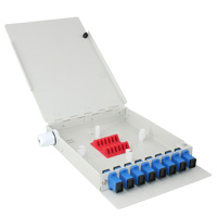 8 Port FTTH Fiber Termination Box, Wall Mount, Metal Construction