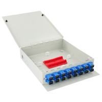 16 Port FTTH Fiber Termination Box, Wall Mount, Metal Construction