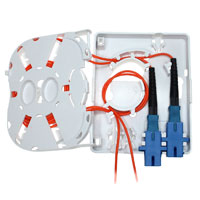 2 Port FTTH Fiber Termination Box, Wall Mount