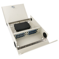 24 Port FTTH Fiber Termination Box, Wall Mount, Metal Construction