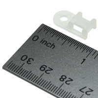 Saddle Type Tie Mount, 19 x 9.5 x 5mm, 3.4mm Screw Diameter, 100pcs/pack