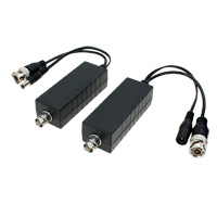 POC Balun, Power Over Coax for HD-TVI, HDCVI, AHD, and CVBS (Up to 1200ft at 2MP)