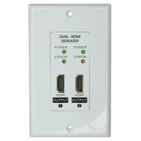 Dual HDMI Repeater Wall Plate (Up to 150ft at 1080p)