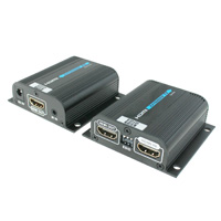 HDMI Extender over Cat6 Cable with EDID and PoE, Built-in IR and HDMI Loop Out