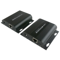 HDMI Extender Over Ethernet with IR (Up to 394ft 1080p, Split to More Monitors, Daisy Chain for Longer Distances)