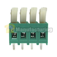 Barrier Type Terminal Block, Pitch: 5mm, Pin: 4