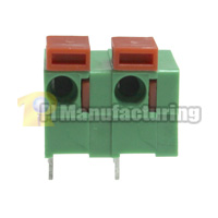 Barrier Type Terminal Block, Pitch: 7.62mm, Pin: 2