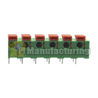 Barrier Type Terminal Block, Pitch: 7.62mm, Pin: 6