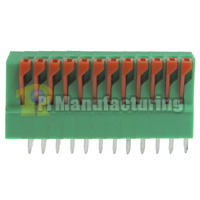 Barrier Type Terminal Block, Pitch: 2.54mm, Pin: 12