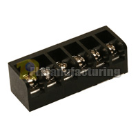 Closed Barrier Type Terminal Block, Pitch: 6.35mm, Pin: 6