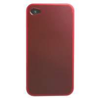 iPhone 4 / 4S TPU Case - Transparent Red (AT&T, Verizon & Sprint)