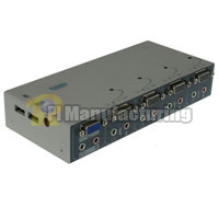 4 Port KVM Switch with USB and Audio Ports