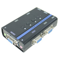 4 Port KVM VGA USB Auto Switch