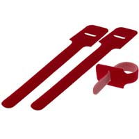 Hook and Loop Cable Tie 6 inch Long x 0.3 inch Wide, 25pcs/pack - Red