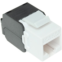 Cat6a Keystone Jack, 180 Degree - White