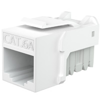 Cat6a Keystone Jack Narrow Type, 90 Degree - White