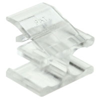 Clip for Two LC Simplex Fiber Optic Connectors, Clear