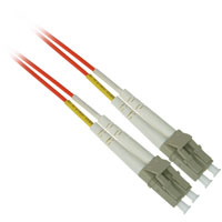 Fiber Optic Cable, LC to LC, Multimode Duplex (62.5/125) - 1 Meter