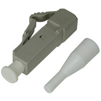LC Multimode Simplex Connector with 0.9mm White Boot - Beige