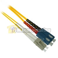 Fiber Optic Cable, LC to SC, Multimode Duplex (62.5/125) - 2 Meter - Yellow