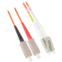 Fiber Optic Cable, LC to SC, Multimode Duplex (62.5/125) - 3 Meter