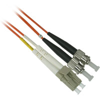 Fiber Optic Cable, LC to ST, Multimode Duplex (62.5/125) - 1 Meter