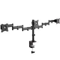 Fully Adjustable Triple VESA LCD Monitor Desktop Mount for 13-27 inch Monitors (Max 44lbs)