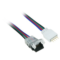 1ft 4-Pin LED Power Connector to RGB LED Light Strip Cut End